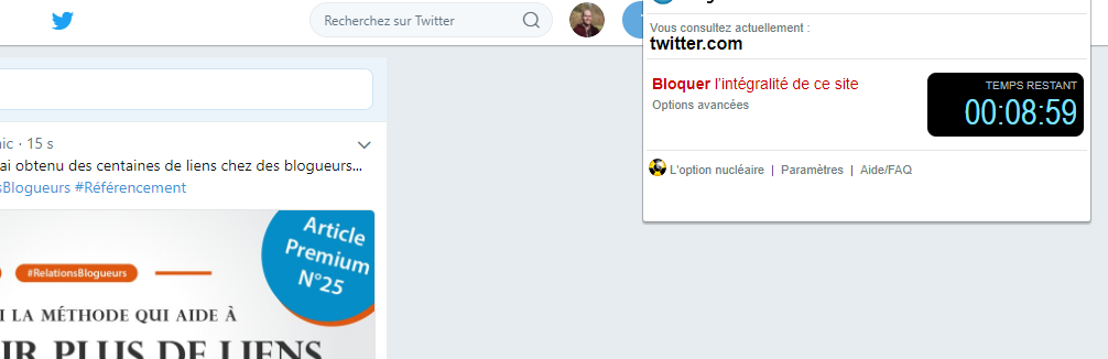 bloquer twitter sur chrome